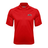 Red Textured Saddle Shoulder Polo-Arched GWU