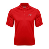 Red Textured Saddle Shoulder Polo-Arched Bulldog