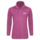 Ladies Fleece Full Zip Raspberry Jacket-Gardner-Webb University