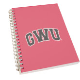 Clear 7 x 10 Spiral Journal Notebook-Arched GWU
