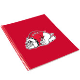 College Spiral Notebook w/Red Coil-GWU Runnin'' Bulldogs