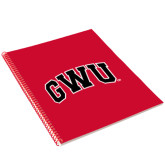 College Spiral Notebook w/Red Coil-Arched GWU
