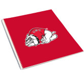College Spiral Notebook w/Clear Coil-GWU Running Bulldog