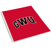 College Spiral Notebook w/Clear Coil-Arched GWU