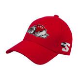 Red Heavyweight Twill Pro Style Hat-Bulldog