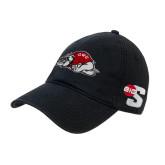 Black Twill Unstructured Low Profile Hat-Bulldog