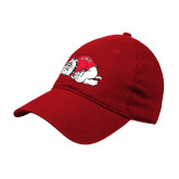 Red Twill Unstructured Low Profile Hat-GWU Runnin Bulldogs