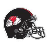Football Helmet Magnet-Bulldog, 11 1/2 in W X 8 3/4 in H