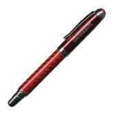 Carbon Fiber Red Rollerball Pen-Gardner-Webb University Engraved