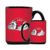 Full Color Black Mug 15oz-Bulldog