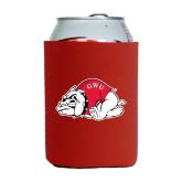 Neoprene Red Can Holder-Bulldog