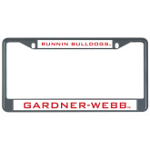 Metal License Plate Frame in Black-Running Bulldogs