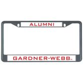 Metal License Plate Frame in Black-Bulldog