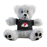 Plush Big Paw 8 1/2 inch White Bear w/Black Shirt-Bulldog