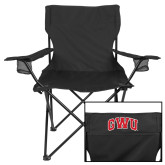 Deluxe Black Captains Chair-Arched GWU