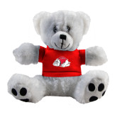 Plush Big Paw 8 1/2 inch White Bear w/Red Shirt-Bulldog