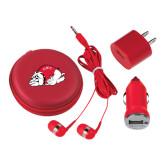 3 in 1 Red Audio Travel Kit-Bulldog