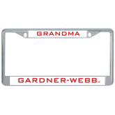 Metal License Plate Frame in Chrome-Grandma