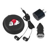 3 in 1 Black Audio Travel Kit-Bulldog