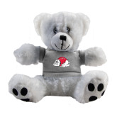 Plush Big Paw 8 1/2 inch White Bear w/Grey Shirt-Bulldog