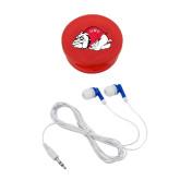 Ear Buds in Red Case-Bulldog