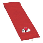 Red Golf Towel-Bulldog