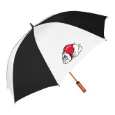 62 Inch Black/White Umbrella-Bulldog