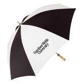 62 Inch Black/White Umbrella-Gardner-Webb University