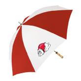 62 Inch Red/White Vented Umbrella-Bulldog