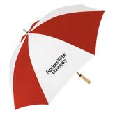 62 Inch Red/White Vented Umbrella-Gardner-Webb University