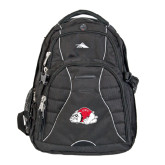 High Sierra Swerve Black Compu Backpack-Bulldog
