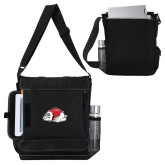 Impact Vertical Black Computer Messenger Bag-Bulldog
