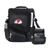 Momentum Black Computer Messenger Bag-Bulldog