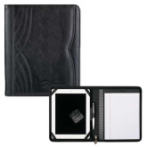 Kate Deco Tech Black Padfolio-Debossed