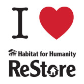 Medium Decal-I Heart Restore, 8 Inches Wide