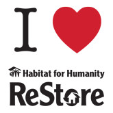 Large Decal-I Heart Restore, 12 Inches Wide