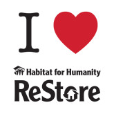 Small Decal-I Heart Restore, 6 Inches Wide