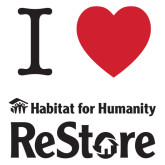 Extra Large Decal-I Heart Restore, 18 Inches Wide