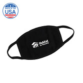 USA Made Black 3 Ply Cotton Mask-