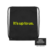 Black Drawstring Backpack-Its up to us