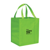 Non Woven Lime Green Grocery Tote-Everyone Stacked