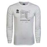 White Long Sleeve T Shirt-Habitat Room Frame
