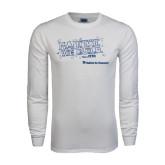 White Long Sleeve T Shirt-Habitat We Build