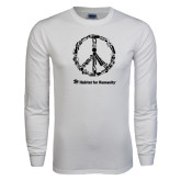 White Long Sleeve T Shirt-Peace Tools