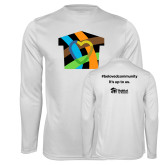 Performance White Longsleeve Shirt-Beloved Community