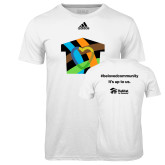 Adidas Climalite White Ultimate Performance Tee-Beloved Community