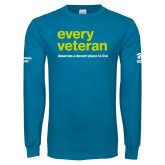Sapphire Long Sleeve T Shirt-Every Veteran