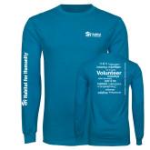 Sapphire Long Sleeve T Shirt-Habitat Volunteer Design