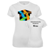 Ladies Syntrel Performance White Tee-Beloved Community