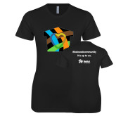 Next Level Ladies SoftStyle Junior Fitted Black Tee-Beloved Community